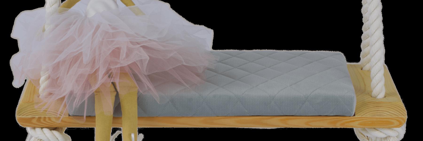 Columpio Comfort+ – Gris claro, Natural