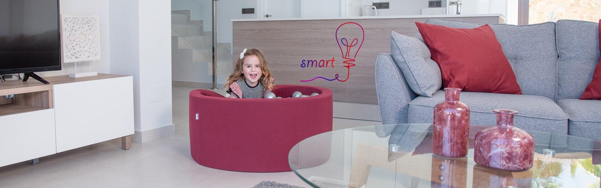 Piscina Smart – 130x130x40cm, Rosado